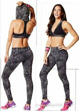 ZUMBA  FITNESS 2 PIECE SET! Tri-Me LEGGINGS & Oh my Hoodness BRA TOP Yoga RARE!!