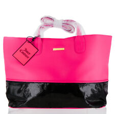 Juicy Couture Pink With Black Sequins Tote Handbag Bag Sac Purse Large 756a38da9