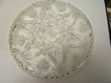 "Anchor Hocking  Early American Prescut 13 1/2"" Round Platter AUC"