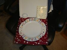 New listing Pampered Chef Celebrate Plate Special Occasion 11 Inch Happy Birthday New Nib
