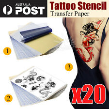 20pcs Tattoo Stencil Transfer Paper Spirit Thermal Carbon Tracing Copier Kit