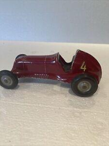 Vintage Roy Cox Thimble Drome Champion Tether Race Car # 4 Red  Car