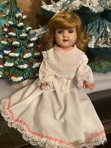 "Antique 1900's German 12"" Tin Shoulder Head Minerva Doll"