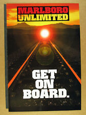 1995 Marlboro Unlimited Train Trip Sweepstakes Contest 12 page vintage print Ad
