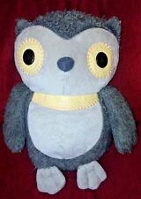 "Kohls Cares for Kids Gray Owl Soft Plush Aesop's Fables Hooty Owl 10"" Fuzzy Tan"