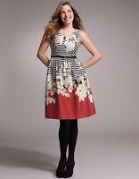BRAVISSIMO FLORAL DRESS Stripe dress in Black/Red RRP £59 (91)