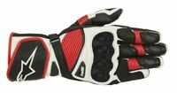 GUANTI MOTO ALPINESTARS SP-1 V2 GLOVES BLACK WHITE RED PROT CERTIFICATE