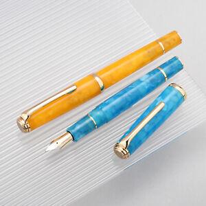 HongDian N1 Resin Fountain Pen, Extra Fine Nib Classic Pen Writing Pen Gift
