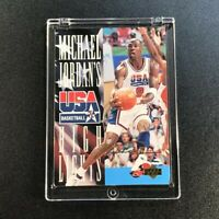 MICHAEL JORDAN 1994 UPPER DECK #JH1 USA HIGHLIGHTS INSERT GOLD SIGNATURE MJ