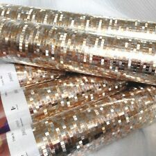 Luxury Light Gold PVC Foil Wallpaper Mosaic Wall Paper Ceiling Covering Home