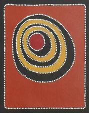 Sally Clark Water Dreams, Aboriginal Art Painting 43x34cm w/ COA
