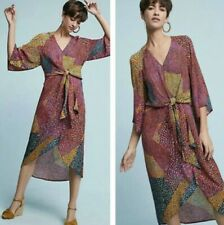 NEW Anthropologie Bl^nk London Tori Wrap Dress Size Small