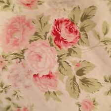 Rachel Ashwell Shabby Chic Wild Flower Bouquet White Fabric Floral Sample 1 Yd