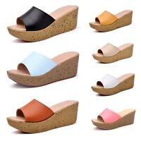 New Women Summer Beach Sandals Contracted Wedge Platform Flip Flop Shoes Sandals