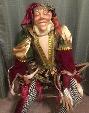 Katherine's Collection Wayne Kleski Rare & Retired Life Size Jester Doll