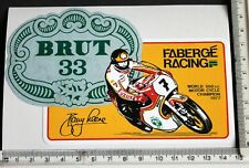Barry Sheene Faberge Racing sticker    6