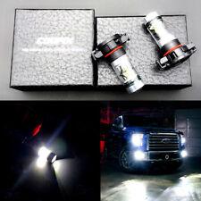 2x H16 5202 PS24W 100W High Power 6000K Super White LED Fog Light Bulb SL