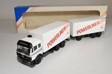 ± LION CAR MERCEDES BENZ POWERLINER TRUCK WITH TRAILER NM BOXED RARE
