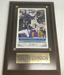Calvin Johnson Card Plaque NFL Football Detroit Lions - Card Score Hall Of Fame