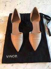 Vince Nude Kitten Heeled Slip On Pumps Size 37.5