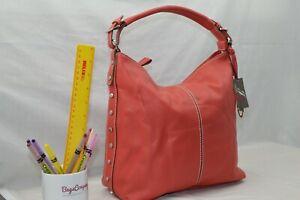 FAUX LEATHER - NEW - Jane Shilton Designer Shoulderbag Handbag - BRIGHT RED