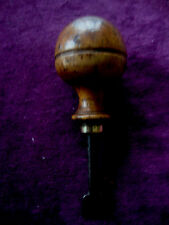 Super antique boxwood, brass and steel seal chisel