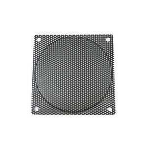 120mm Steel Mesh Fan Filter, Black, Medium Hole (2.2mm)