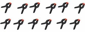 12 Pack 4 Inch Spring Clamps Plastic Muslin Clamps