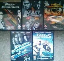 FAST AND THE FURIOUS 1,2,3,4,5 Tokyo Drift Vin Diesel*Walker*The Rock  DVD *EXC*