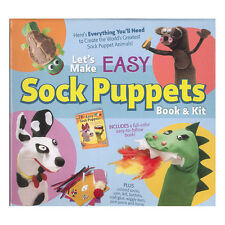 BNIB SOCK PUPPETS DIY KIT + BOOK Toys Activities Kids Craft Education Book NEW