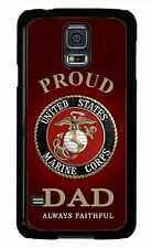 USMC Marine Corps Proud Dad Cover Case for Samsung Galaxy S3 S4 S5 note 2 3 4