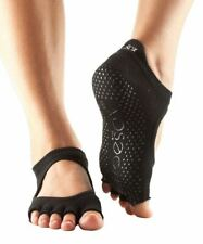 Toesox No Toe Bellarina Pilates Yoga Martial Arts Grip Socks Black