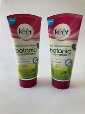 2- VEET Hair Removal Cream BOTANIC inspirations SENSITIVE FORMULA 6.7 Oz