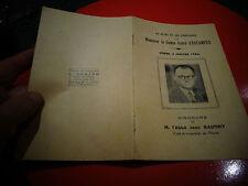 Livré commémorent le Décès de Mr le Comte André d'Estampes à Pierre 1956