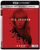 Red Sparrow 4K UHD 4K (used) Blu-ray Only Disc Please Read
