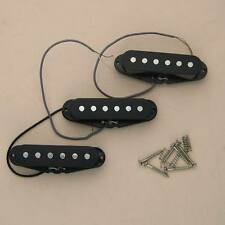 1 Set of 3 Single Coil High Output Pickup Bass Black with Cover Fit Strat Fender