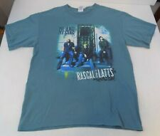 Rascal Flatts - Me And My Gang Concert Tour~T-Shirt~Large~Teal~M usic-Country/Pop