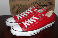 CONVERSE.ALL STAR OX ONE PAIR BRAND NEW RED WOMENS SIZE 13 OR MENS SIZE 11