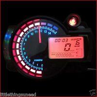 moto, numérique, KPH , & ,MPH , Odomètre, réglable, arrière,feu, HONDA, SUZUKI,