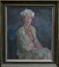 Peter greenham 1909-1992 British pittura ad olio Ritratto Arte LADY Pricilla Burton