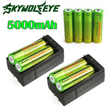 8pcs SKYWOLFEYE 5000mAh Li-ion 3.7V Rechargeable 18650 Battery +2X Charger USA