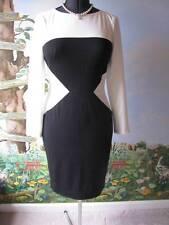 Ralph Lauren Dress Women's Color-block Black/White Long Sleeve Dress Size 12
