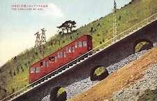 Mt Hiei Japan Cable Car Mountain Incline Antique Postcard J66190