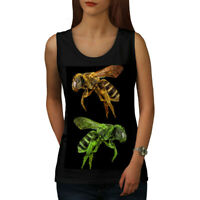 Wellcoda Bee Bug Insect Art Womens Tank Top, Huge Athletic Sports Shirt