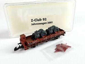 Märklin Spur Z, Z-Club 92 Jahreswagen 2001 Rungenwagen m. 2 St. Metall Traktoren