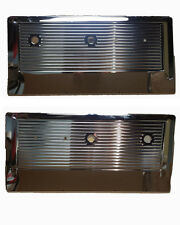 MINOR BLEM 1967-71 Chevy Truck Blazer Jimmy Suburban Chrome Front Door Panel Set