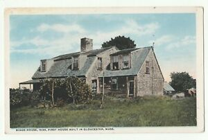 Riggs House,1638,First House Built in Gloucester, Mass.,USA,Postcard Posted 1919