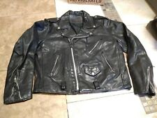 Vtg Racer Leather Western Jacket M Men Motorcycle Bomber Rider 90S Rock