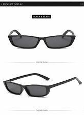 Women Fashion Small Rectangular Frame Square Glasses Shades Vintage Sunglasses