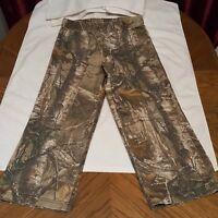 Cabelas Women's Capri Crop Pants - Size Small - Tan Camo Cotton